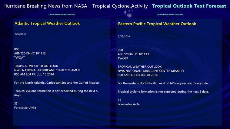Hurricane and Tropical Storm Report screen shot 3