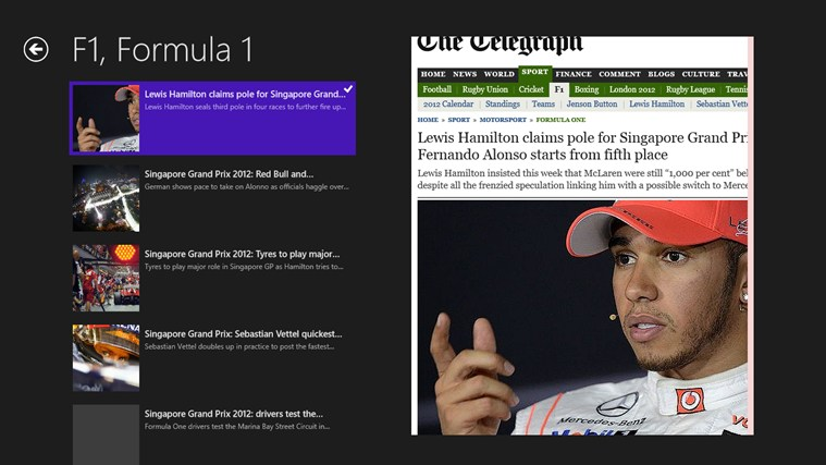 Formulla1 screen shot 3