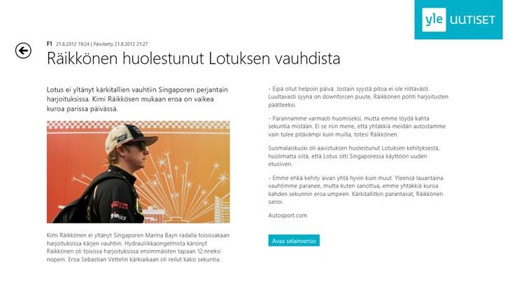 Yle Uutiset näyttökuva 3
