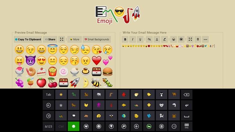 Emoji screen shot 1