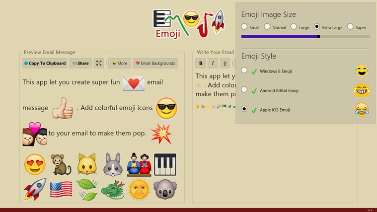 Emoji screen shot 3
