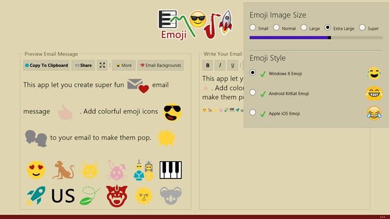 Emoji screen shot 5