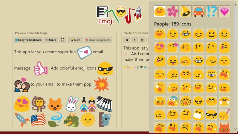 Emoji screen shot 7