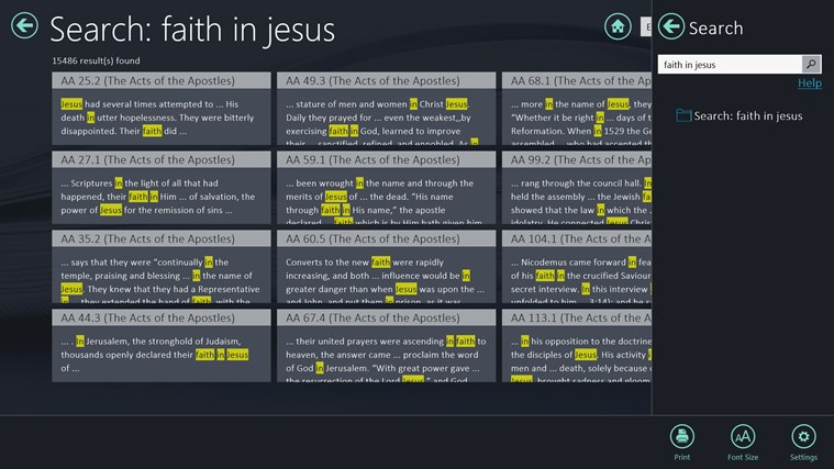 EGW Writings screen shot 5