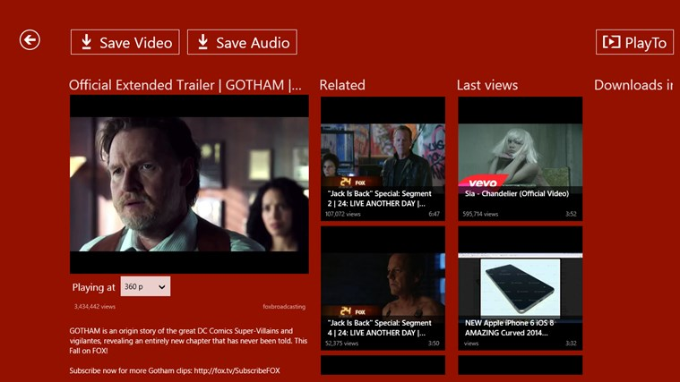 YouTube Downloader Plus RT screen shot 3