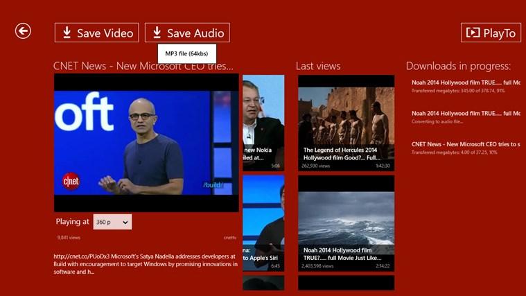 YouTube Downloader Plus RT screen shot 7
