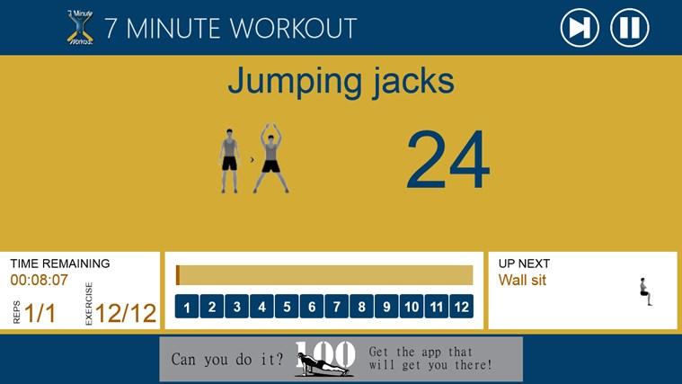 7 Minute Workout screen shot 1