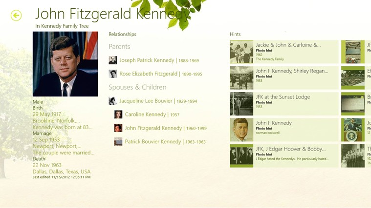 Ancestry screen shot 1