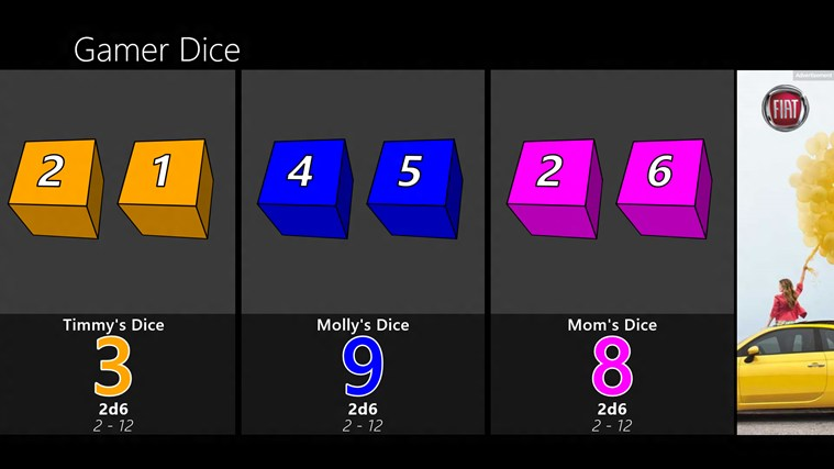 Gamer Dice Free screen shot 3