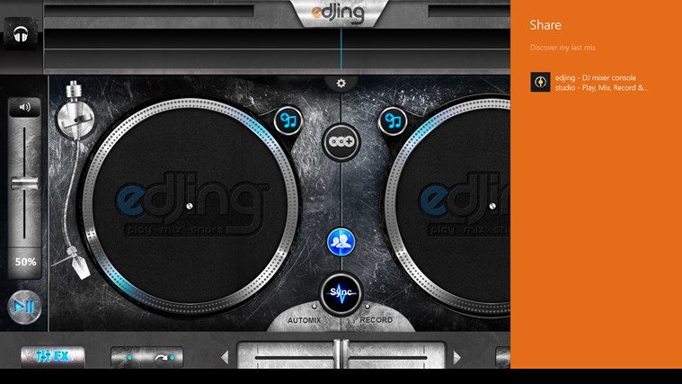 edjing - DJ mixer console studio - Play, Mix, Record & Share your sound! screen shot 5