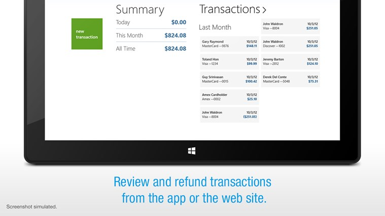 Credit Card Terminal screen shot 3