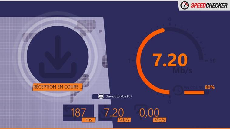Test de débit capture d'écran 1