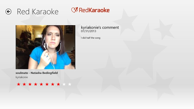 Red Karaoke screen shot 3