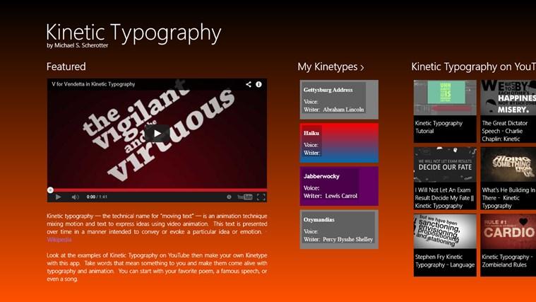 Kinetic Typography screen shot 1