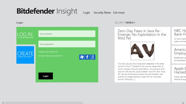 Bitdefender Insight screen shot 1