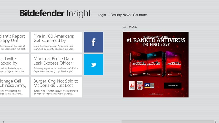 Bitdefender Insight screen shot 3