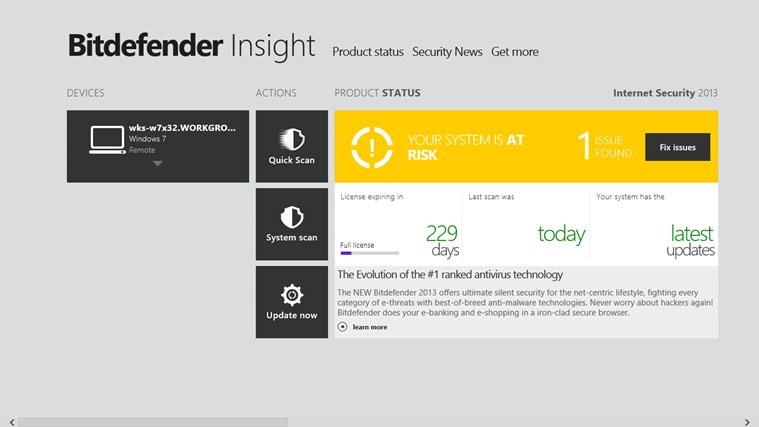 Bitdefender Insight screen shot 5