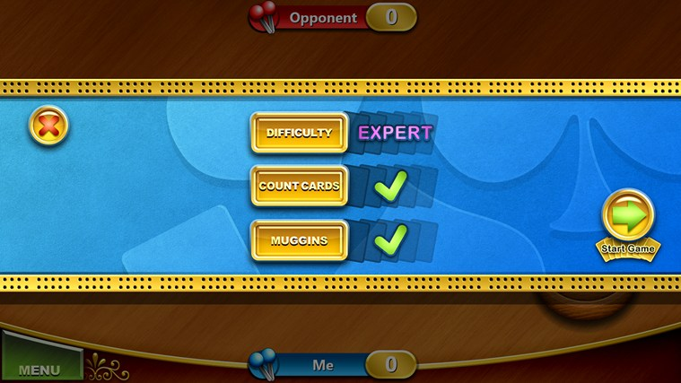 Cribbage screen shot 1