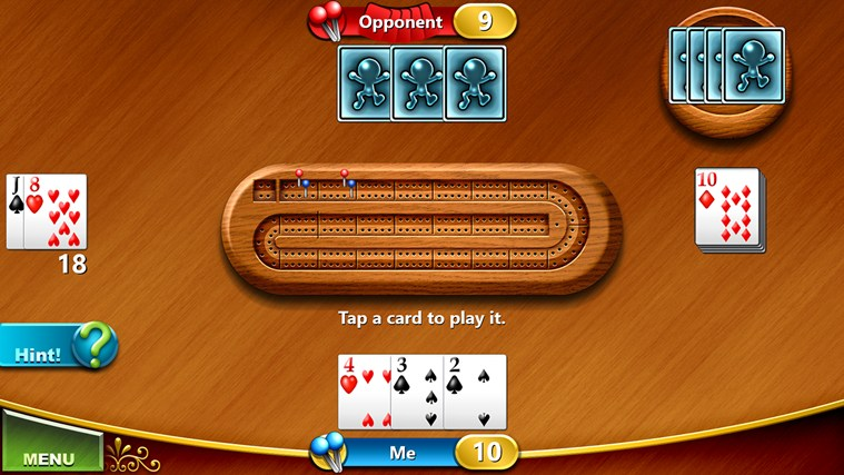 Cribbage screen shot 3