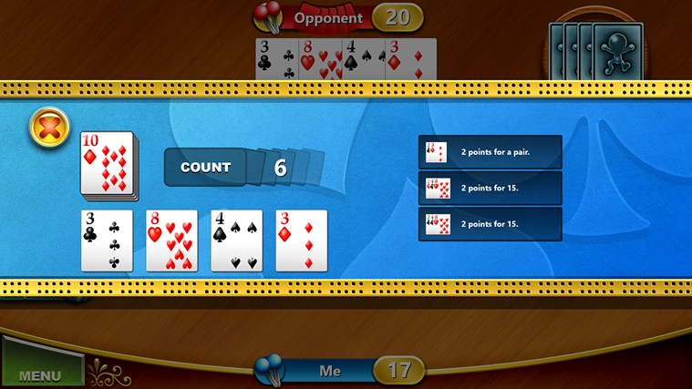 Cribbage screen shot 5