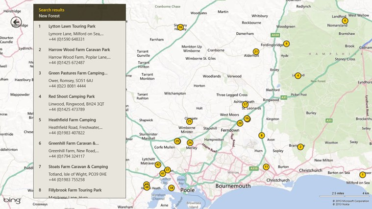 AA Caravan & Camping Guide screen shot 5