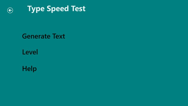 Type Speed Test screen shot 1