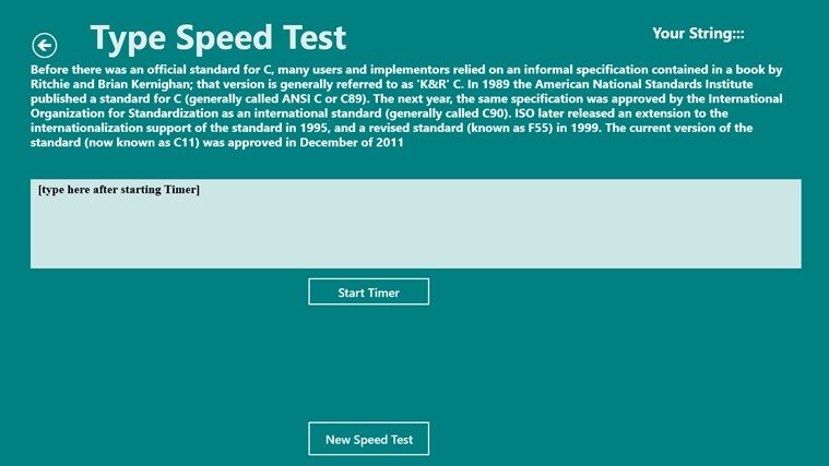 Type Speed Test screen shot 3
