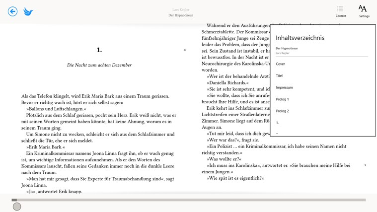 eBook.de READER snimka zaslona 1