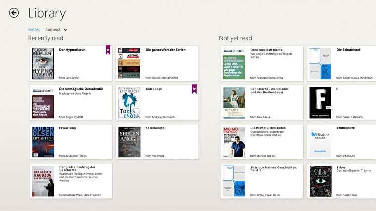 eBook.de READER screen shot 3