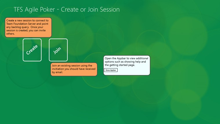 TFS Agile Poker screen shot 1