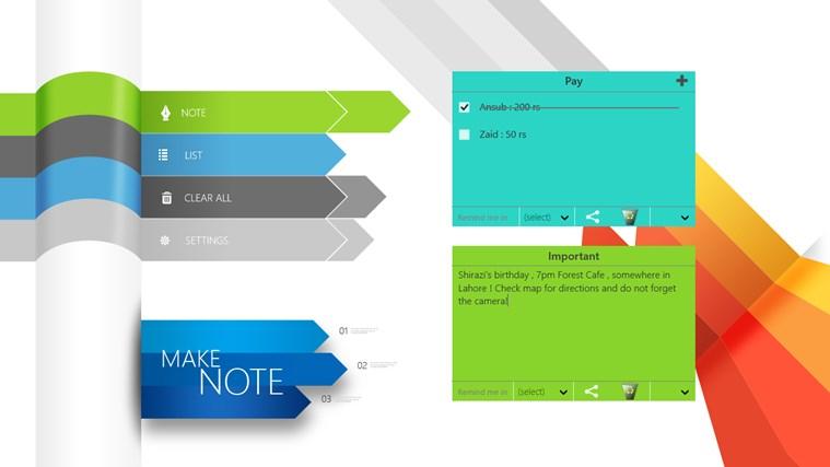 Make Note screen shot 1