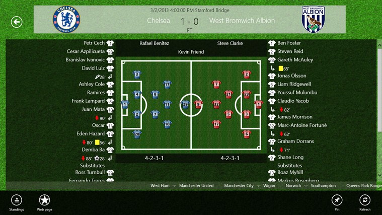Tile LiveScore screen shot 3