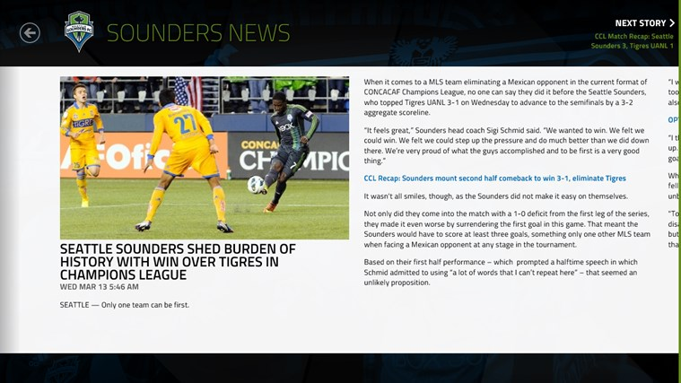MLS MatchDay screen shot 5
