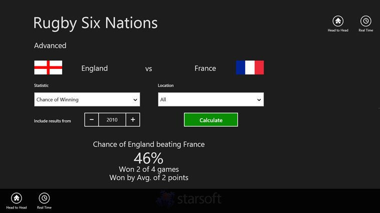 Rugby Six Nations screen shot 1