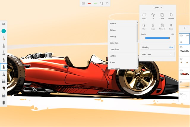 Autodesk® SketchBook® for Windows Tablet screen shot 5