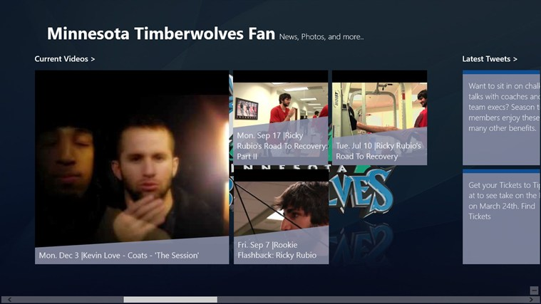Minnesota Timberwolves Fan App screen shot 1