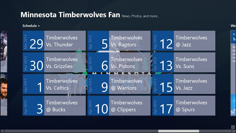 Minnesota Timberwolves Fan App screen shot 3