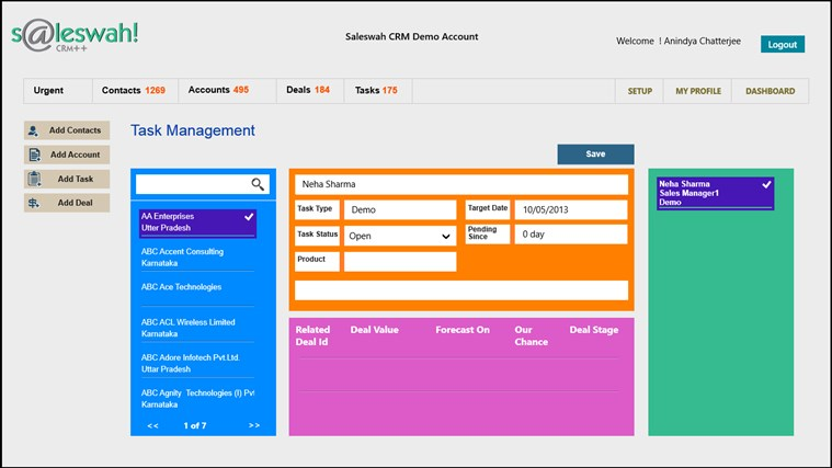 Saleswah Lite CRM screen shot 3