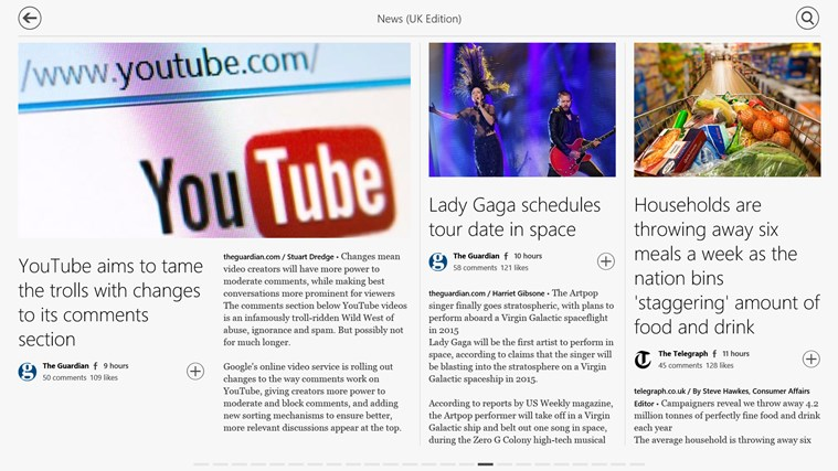 Flipboard screen shot 3