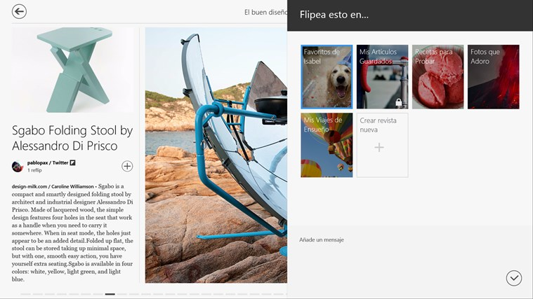 Flipboard captura de pantalla 5