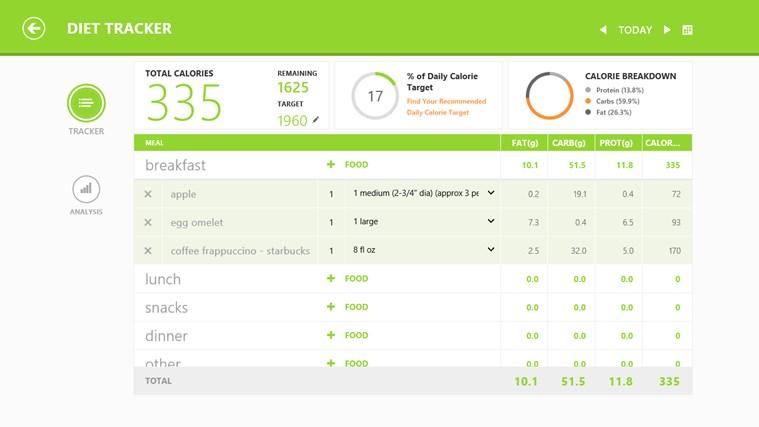 MSN Health & Fitness screen shot 3