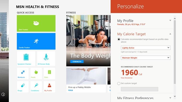 MSN Health & Fitness screen shot 5