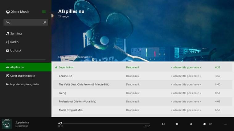 Musik skærmbillede 3