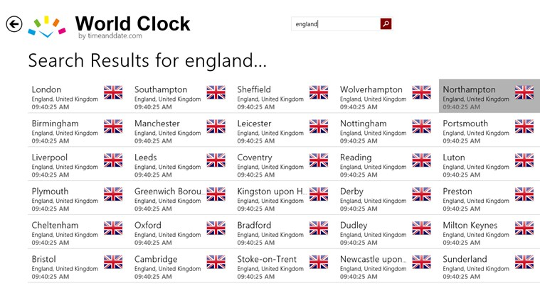 World Clock - Time Zones screen shot 5