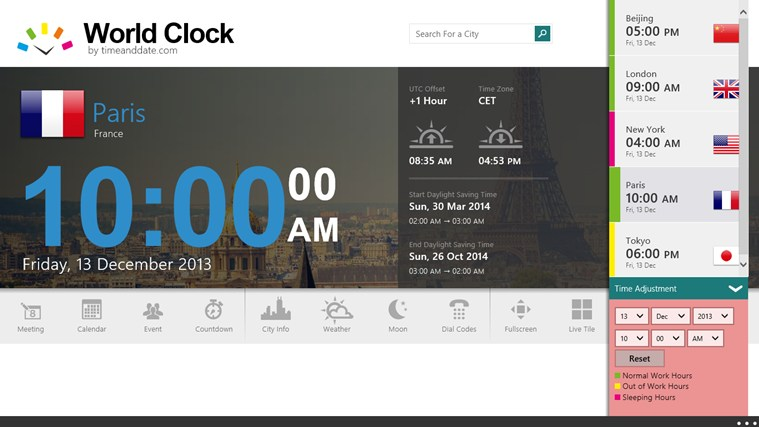 World Clock - Time Zones screen shot 7