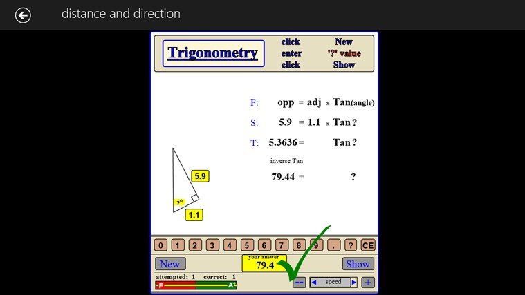 MATH - trigonometry expert screen shot 1
