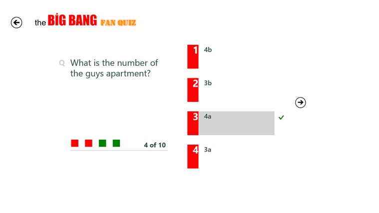 The Big Bang Fan Quiz screen shot 1