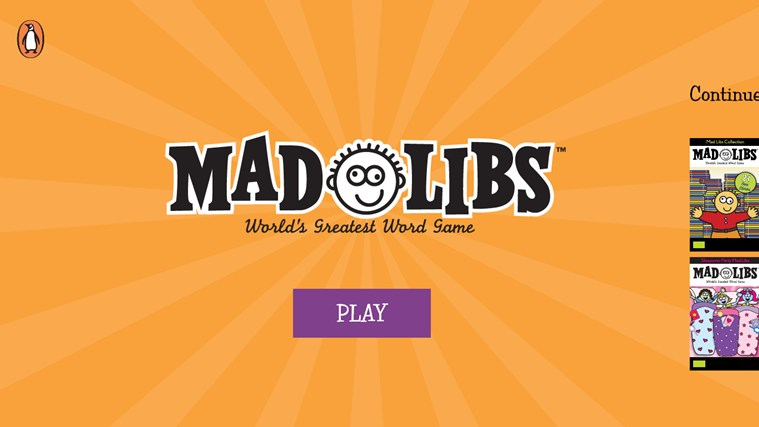 Mad Libs screen shot 1