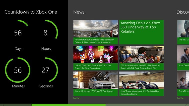 Microsoft Store's Xbox One Countdown screen shot 1