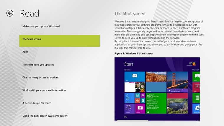 Getting Started with Windows 8 screen shot 1